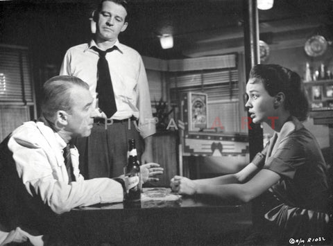 Anatomy Of A Murder Interrogation Scene in Black and White Premium Art Print