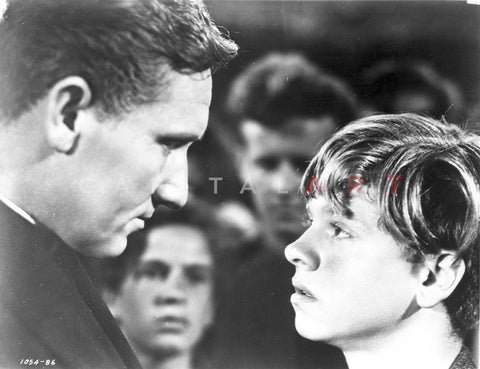 Boys Town Man and Kid Face to Face Scene Excerpt from Film Premium Art Print