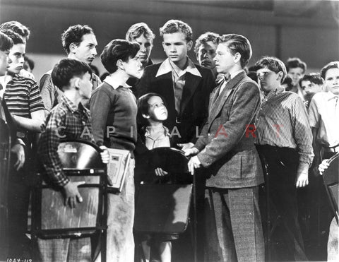 Boys Town People Gathered Scene Excerpt from Film Premium Art Print