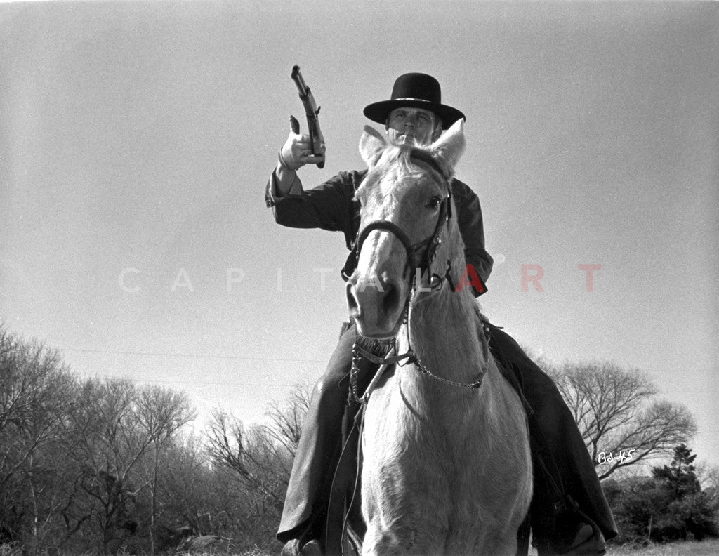 Billy Jack Man Riding in Horse Premium Art Print