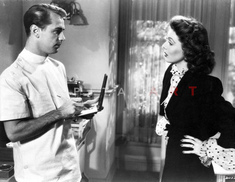 And Now Tomorrow Doctor talking with a Woman in Couple Scene Premium Art Print