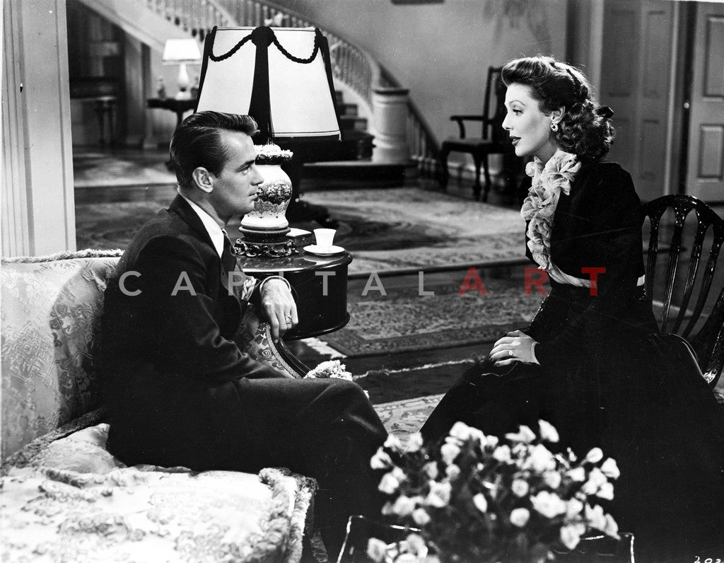 And Now Tomorrow Couple Talking in the Living Room in a Movie Scene Premium Art Print
