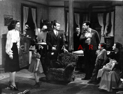 And Now Tomorrow People Talking Inside the Room in a Movie Scene Premium Art Print