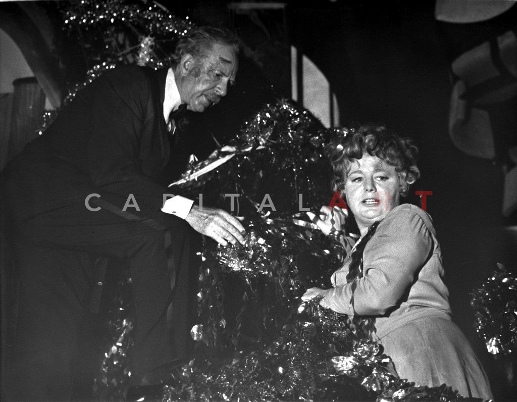 Poseidon Adventure Cast Couple Portrait On Christmas Tree Excerpt From Film Premium Art Print