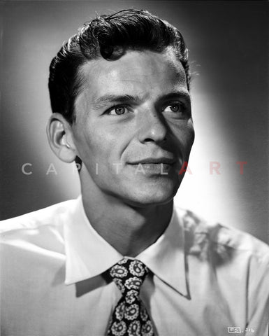 Frank Sinatra Happy in White Shirt Premium Art Print