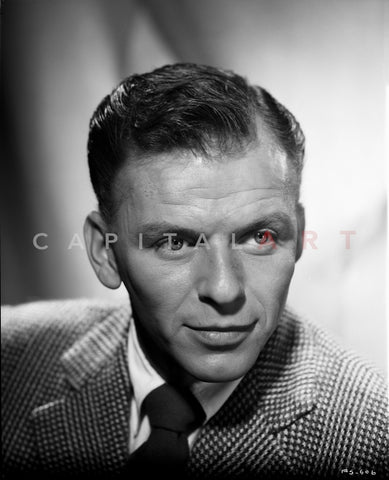 Frank Sinatra Posed in a Straight Face Premium Art Print