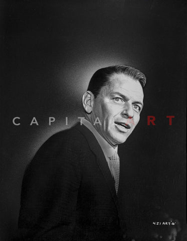 Frank Sinatra Posed in Suit with Mouth Slightly Open Premium Art Print