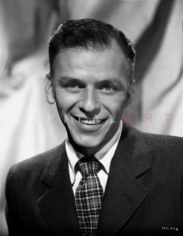 Frank Sinatra Posed in a Suit with a Happy Face Premium Art Print