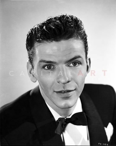 Frank Sinatra Slightly smiling in Black Tuxedo Premium Art Print