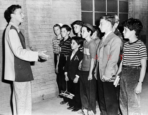 Frank Sinatra Talking to Children in Portrait Premium Art Print