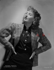 Barbara Stanwyck posed Near the Door Classic Portrait Premium Art Print