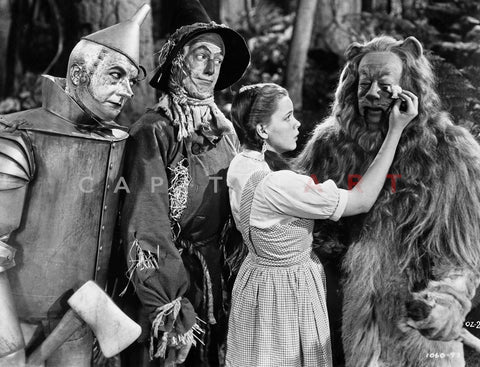 Wizard Of Oz Dorothy Wipes Coward Lion's Tears	 Premium Art Print