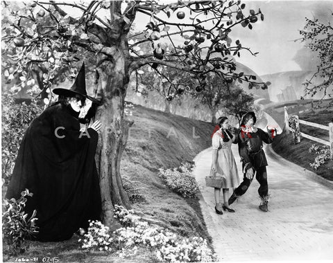 Wizard Of Oz Witch Waiting for Couple in Black and White Premium Art Print