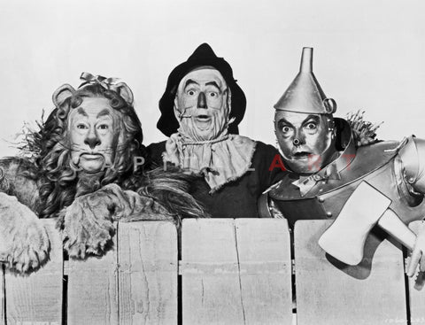 Wizard Of Oz Portrait Coward Lion, Scarecrow and Tinman Premium Art Print