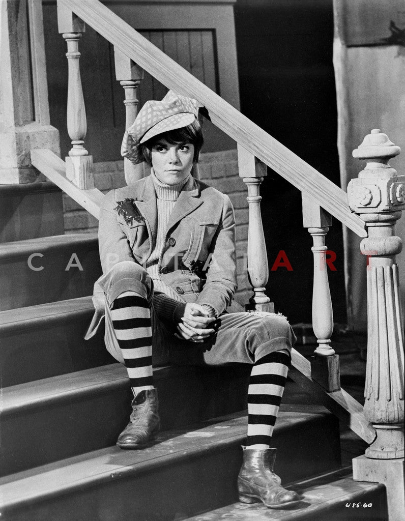 Natalie Wood Sitting In The Stairs Premium Art Print