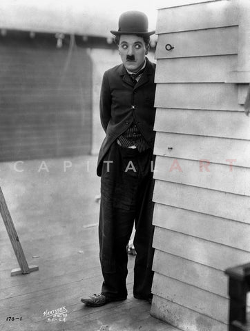Charlie Chaplin Sneaking in Black Suit Master Print