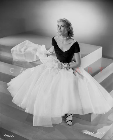 Grace Kelly Posed in Black Shirt Master Print
