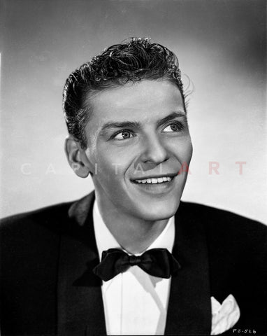 Frank Sinatra smiling in Black and White Master Print