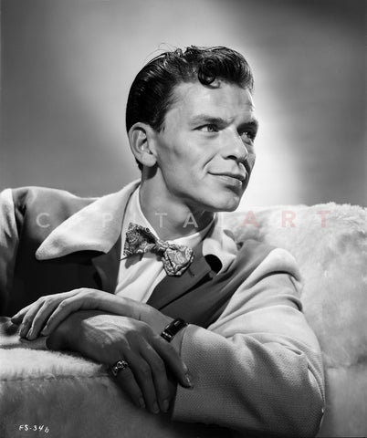 Frank Sinatra Smirking with Arm Rested on Arm Rest Master Print