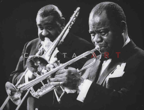 1960s LOUIS ARMSTRONG Jazz Legend and his TRUMPET!