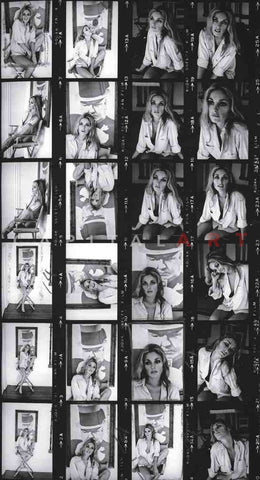 1968 Original CONTACT SHEET Photo SHARON TATE - Sexy Photo Shoot!