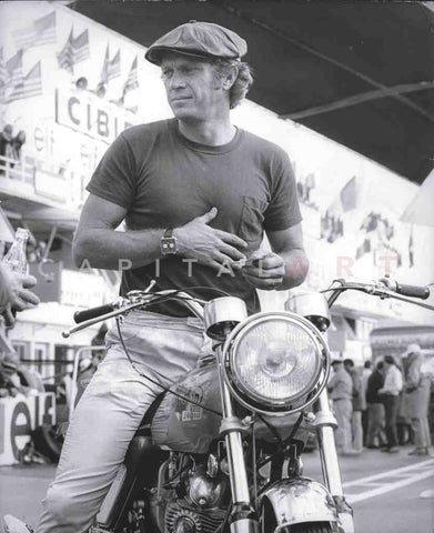 1960s STEVE MCQUEEN - The KING OF COOL on a MOTORCYCLE