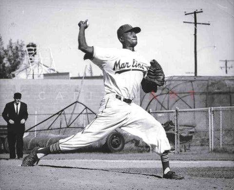 1956 SATCHEL PAIGE Negro League Star PITCHING Miami Marlins