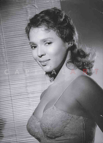 1950s DOROTHY DANDRIDGE Sexy BUSTY Pose in Lingerie!