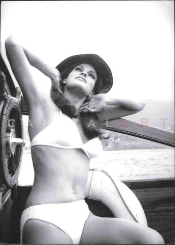 1960s RAQUEL WELCH Sexy SWIMSUIT Shot by CLAUCO CORTINI
