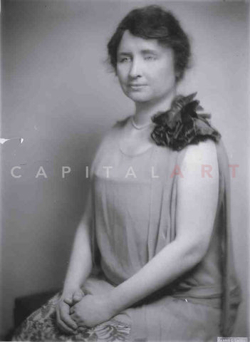 1931 HELEN KELLER Portrait of the Famous BLIND & DEAF Woman