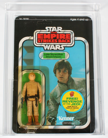 Star Wars vintage Kenner action figure MOC Luke Skywalker Bespin Fatigues CAS 85 graded