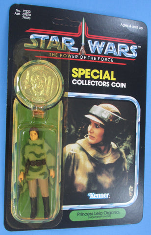 COIN ERROR Star Wars vintage Kenner action figure Leia Poncho with Han Trench Coat coin POTF