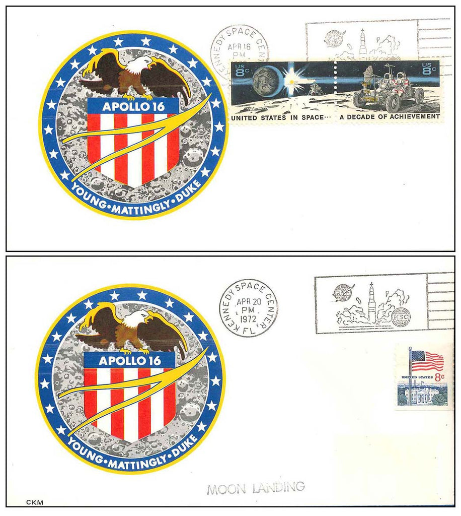 NASA postal cover Apollo 16