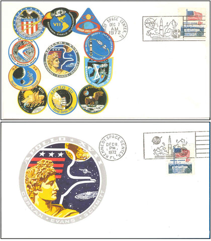 NASA postal cover Apollo 17
