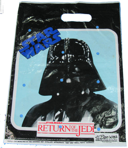 Benson's of Australia vintage Star Wars show bag for Kenner action figures - Darth Vader