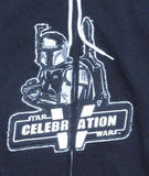 SWEATSHIRT hoodie BOBA FETT patch XL Celebration V - '10 DISCONTINUED Star Wars