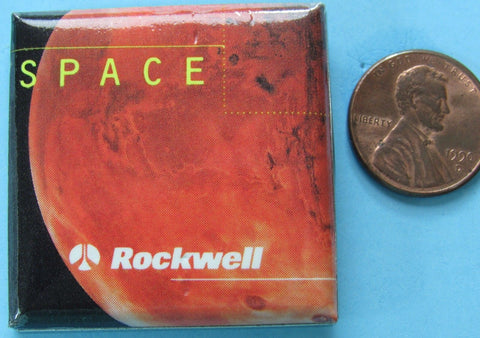 Rockwell International Space button Mars