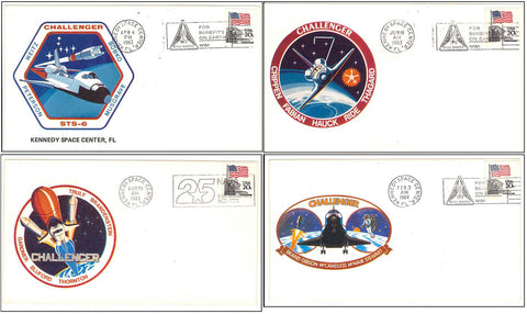 Space Shuttle Challenger postal cover launch NASA
