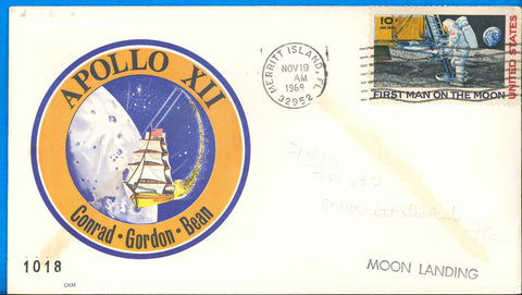 NASA postal cover Apollo 12