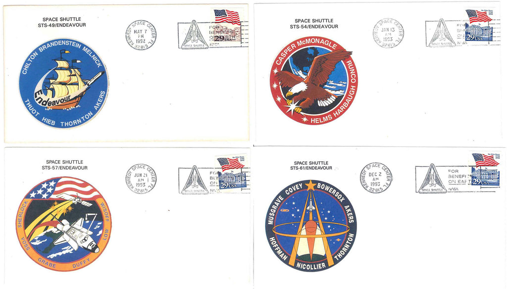Space Shuttle Endeavour postal cover launch NASA
