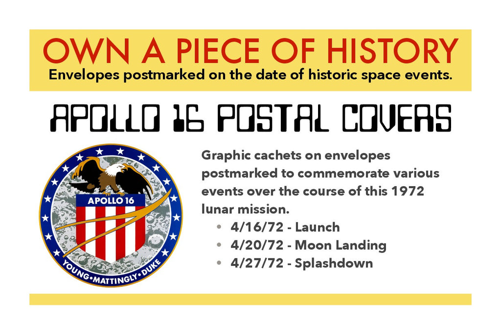 Apollo 16 postal cover NASA mission