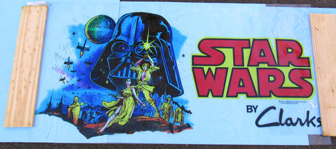 STORE DISPLAY poster banner Clark's Shoes '77 vintage Star Wars