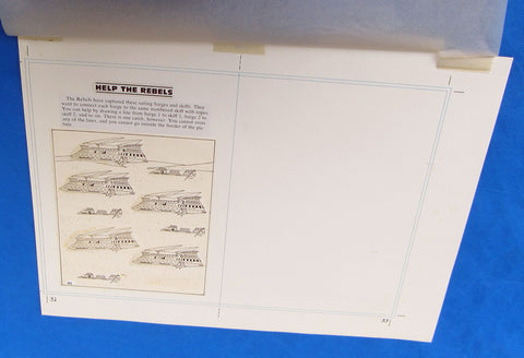 Original Artwork Layout - '83 Happy House - Help the Rebels - Star Wars Return of the Jedi