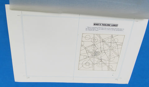 Original Artwork Layout - '83 Happy House - Who's Tailing Luke? TIE Fighter - Star Wars Return of the Jedi