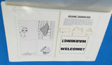 Original Artwork Layout - '83 Happy House - Welcome / Warning Signs - Star Wars Return of the Jedi