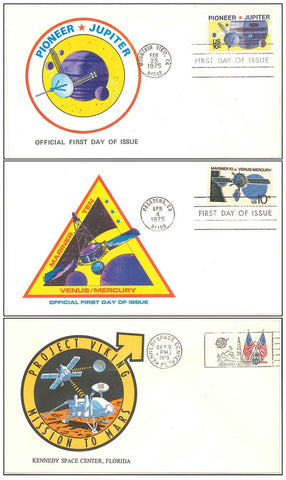NASA postal cover interplanetary Viking Mariner Pioneer Mars Jupiter Venus
