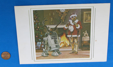 Lucasfilm Employee Holiday Card 1979 - McQuarrie C-3PO R2-D2 Cast & Crew