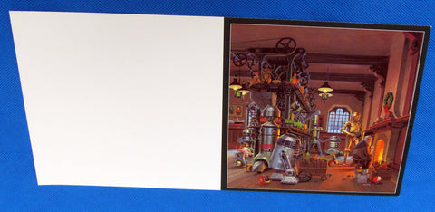 Lucasfilm Employee Holiday Card 1980 FLAT - McQuarrie C-3PO R2-D2 - Cast & Crew