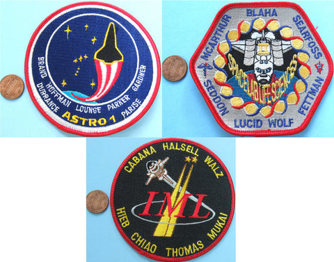 "Space Shuttle Columbia PATCH 4"" lot of 30 - NASA wholesale lot"