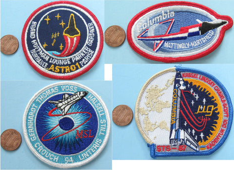 Space Shuttle Columbia patch lot of 4